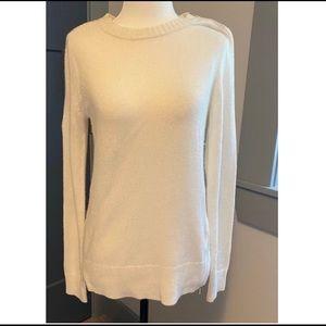 NWT J. Crew White Wool Sweater Women's Size XS